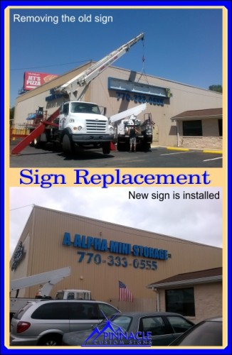 Box Sign Replacement With LED Channel Letters