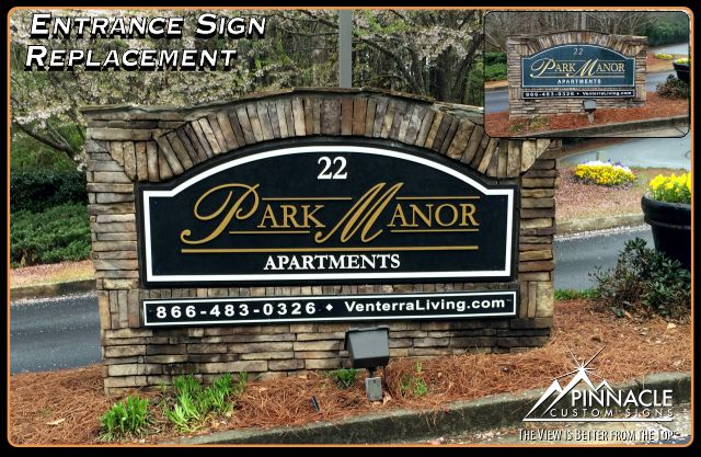 Entrance Sign Replacement | Subdivision stone entrance signs