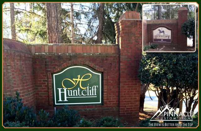 Neighborhood entrance sign cost | Custom Subdivision entrance signs