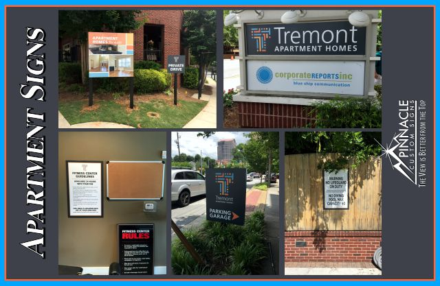Apartment Building Signs | Property Managed Signs | Apartment Banners