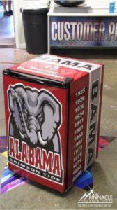 Sports Team Wrapped Refrigerator