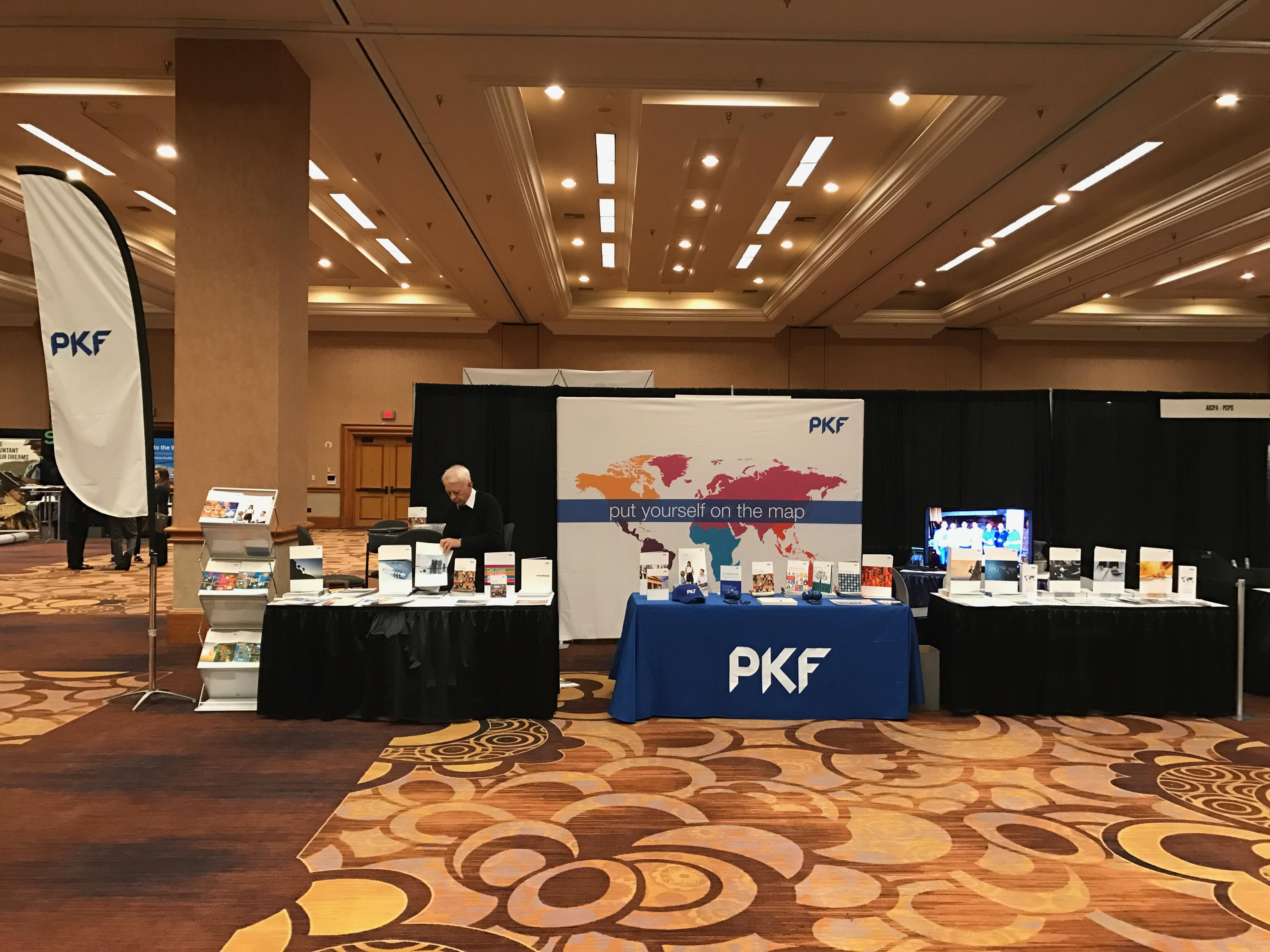 tradeshow set up with Information Stands