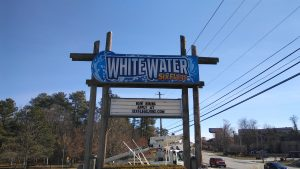 Completed Outdoor Pylon Sign for WhiteWater