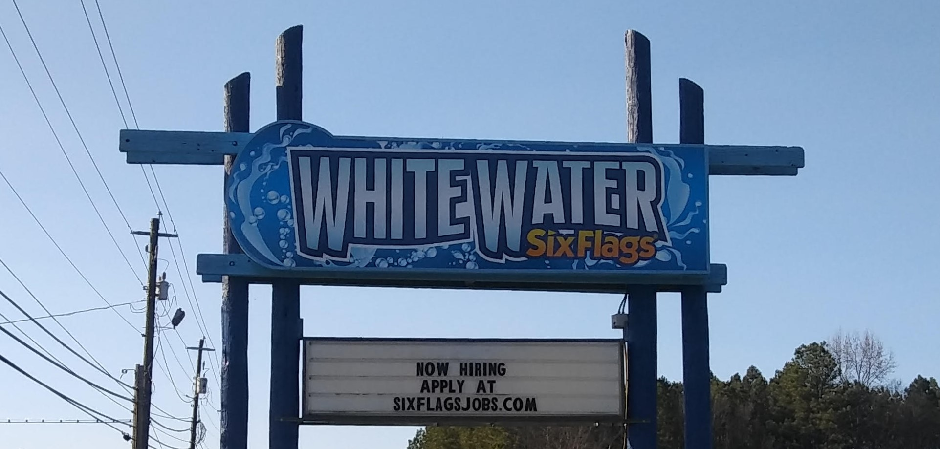 WhiteWater Outdoor Sign