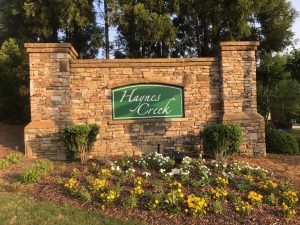 Haynes Creek Completed Outdoor Sign Repair