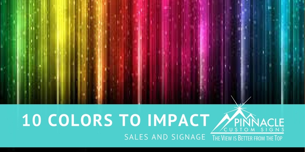 10 Colors that Can Impact Signage and Sales