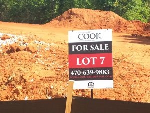 Subdivision Lot Signage for Cook Residential