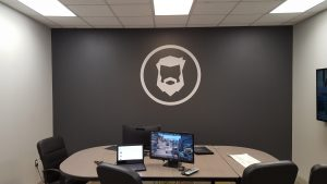 Vinyl wall graphics are an easy way to add branding to any interior location