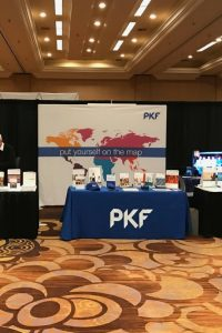 PKF Trade Show Display with world map