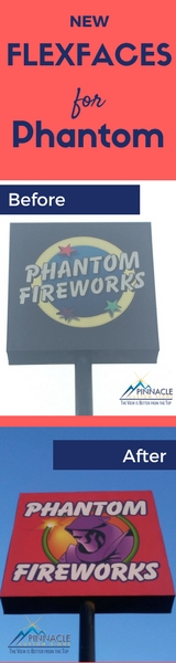 New Flex Face Pylon Signs for Phantom Fireworks