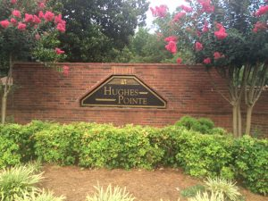 Subdivision Monument Sign for Hughes Pointe