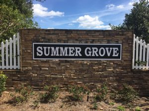 Subdivision Monument Signage for Summer Grove