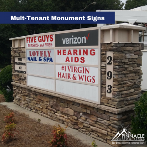 Multi-tenant monument panels sign