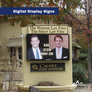 Digital Disply Sign for The Werner Law Firm, The Simson Law Firm, and Cachet Fine Jewelry