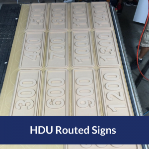 Routed Apartment Number Signs That Use High Density Urethane Foam