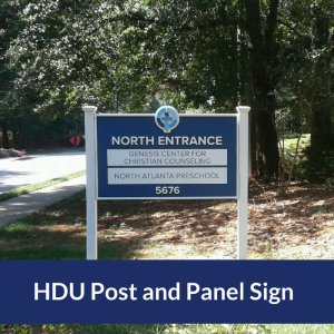 This Post and Panel Sign for North Atlanta Church of Christ Used High Density Urethane Foam