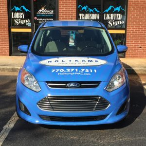 Hood Graphics for the Holtkamp Heating & Air C-Max Wrap