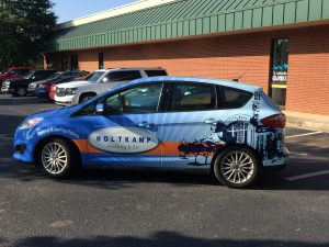 Holtkamp Heating & Air C-Max Car Wrap in Buford,GA