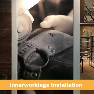 Frye at Cobb Galleria | Innerworkings Installation | Window Graphics | Pinnacle Custom Signs