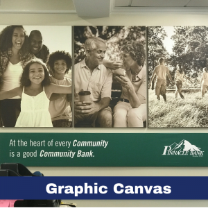This 4 panel Canvas Print Collage is 5' by 8' and focuses on the importance of community