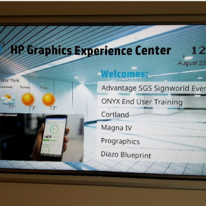 HP Graphic Experience Center | Pinnacle Custom Signs