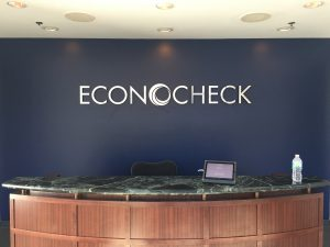 Lobby Sign for Econocheck