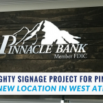 A Mighty Interior Signage Project for Pinnacle Bank's New Location in West Athens, GA