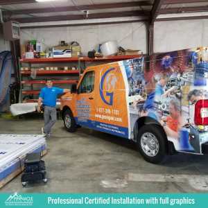Certified Vehicle Wrap Installation | Vehicle Wraps | Pinnacle Custom Signs
