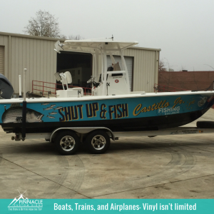 Vinyl is Waterproof | Boat Wraps | Pinnacle Custom Signs