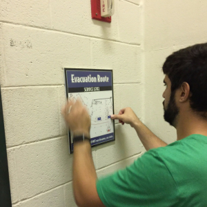 Installation of Emergency Evacuation Maps | Georgia State University | Pinnacle Custom Signs