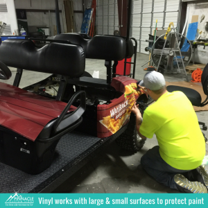 Vinyl works with Many Surfaces | Vehicle Wraps | Pinnacle Custom Signs