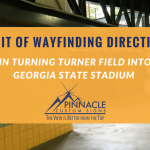 A Bit of Wayfinding Signage for GSU at Turner Field| Pinnacle Custom Signs | Atlanta, GA