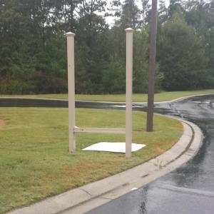 Repairable Damaged Sign Missing Panel | Pinnacle Custom Signs | Buford, GA