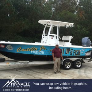 Your boat can benefit from vinyl graphics as well.