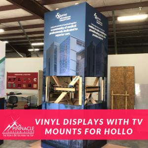 Vinyl Box Displays with TV Mounts