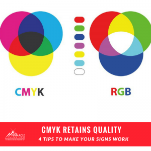 CMYK retains the color quality better than RGB