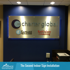 Second Charter Global Lobby Sign