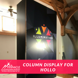 Column display uses a vinyl wrap to add amazing graphics and textures