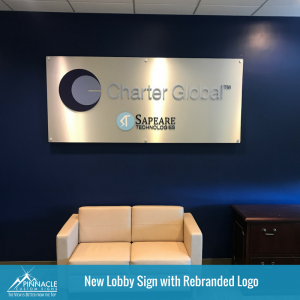 Latest Indoor Sign for Charter Global Signage | Pinnacle Custom Signs