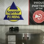 Vinyl Graphic for Superior Plumbing, a partner of the Hawks