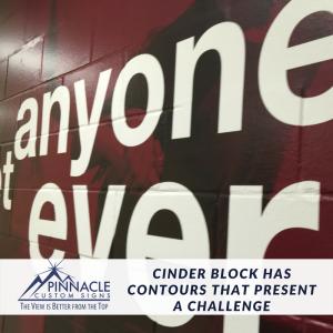 Cinder Block Wall Contours   Certified Installer   Pinnacle Custom Signs   Atlanta, GA