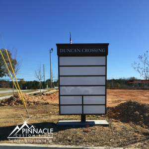 One of Two Monument Signs for Duncan's Crossing