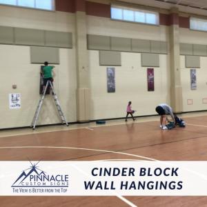 Cinder Block Wall install for Brandywine | Cady Studios | Pinnacle Custom Signs | Atlanta, GA