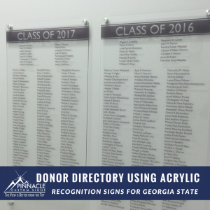 Acrylic Donor Recognition Panels
