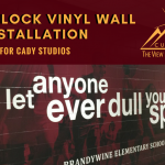 Cinder Block Vinyl Wall Installation for Cady Studios
