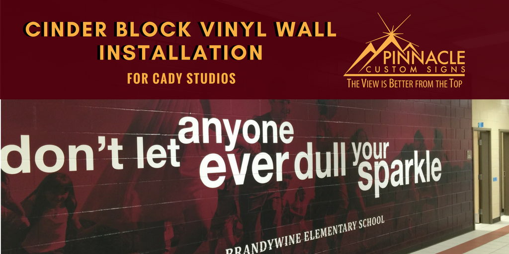 Cinder Block Walls for Cady Studios | Pinnacle Custom Signs | Atlanta, GA