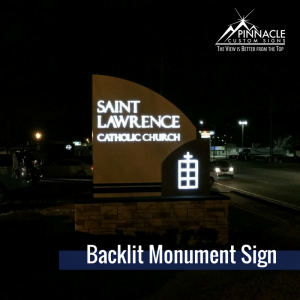 Monument Sign for St. Lawrence Catholic Church in Lawrenceville, GA