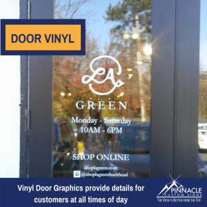 Vinyl Door Graphics for La Greenat Andrew's Square in Buckhead, GA