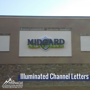 Illuminated Channel Letters for Midguard Storage in Gainesville, GA