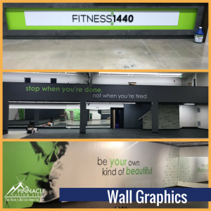 Vinyll Wall Graphics for Fitness 1440 in Norton, MA